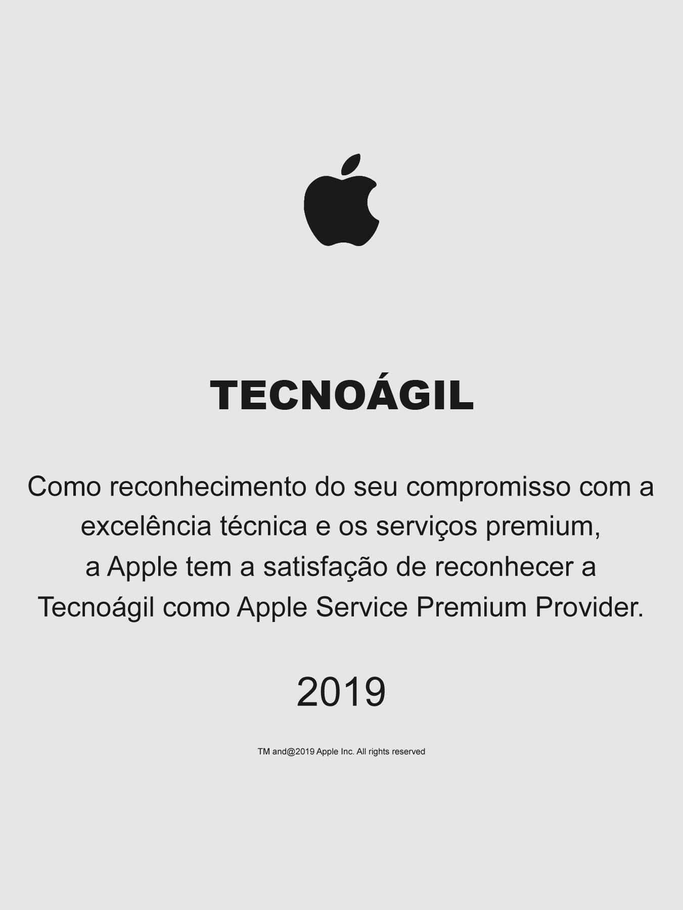 112ee9ad80152 Fomos classificados pela Apple como Premium Service Provider pelo 3º ano  consecutivo.